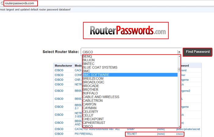 routerpasswords.com