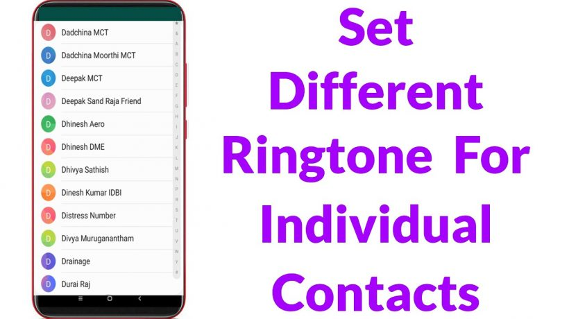 How to set different ringtones for different contacts iphone?