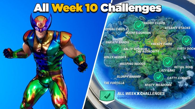 Fortnite week 10 challenges with legendary missions
